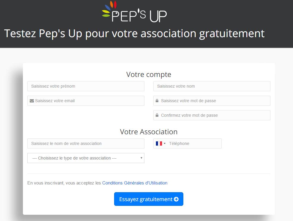 Gérez facilement votre association avec Pep s Up